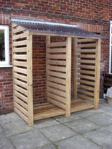 firewood storage idea  dont    building lean
