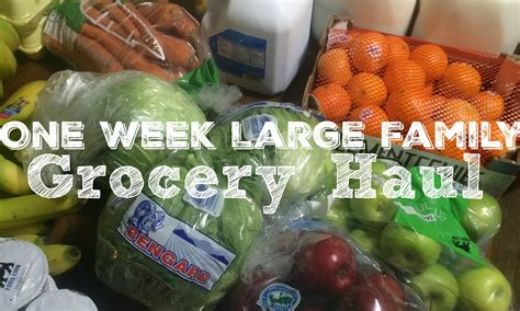 jamerrill large family one week grocery shopping haul for a large family money