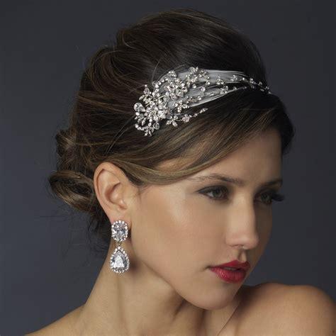 bridal headband flower bridal