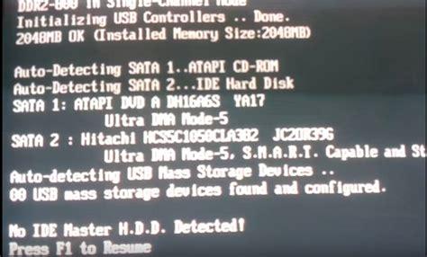 hướng dẫn c 225 ch sửa lỗi no ide master hdd detected press