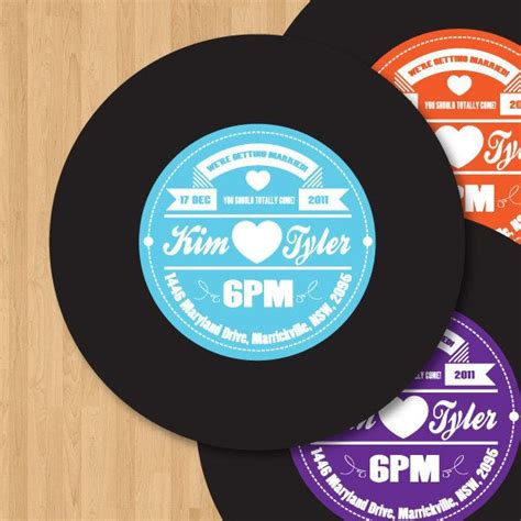 printable vinyl record stickers vinyl record label wedding invitation diy set printable