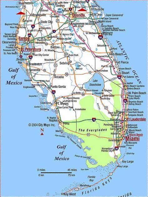map of south florida and map of south florida deboomfotografie