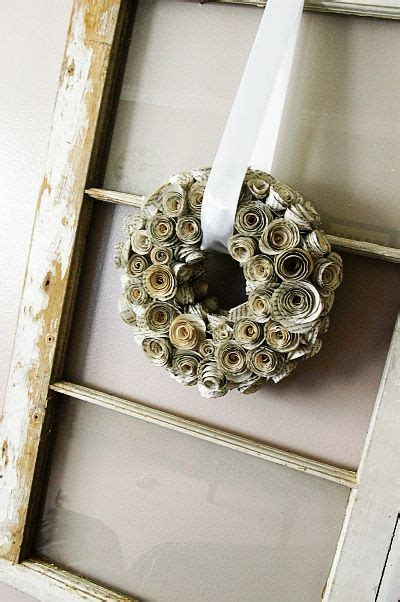 rolled paper flower wreath tutorial 17 best images about art journal old books on pinterest