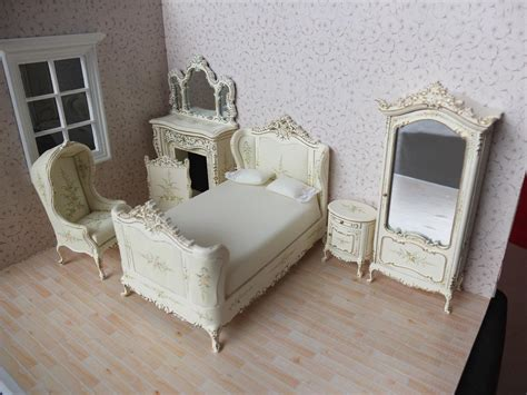 miniature dollhouse bedroom furniture bespaq dollhouse miniature french bedroom furniture set