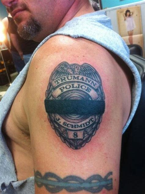 police badge tattoo memorial badge tattoos badges