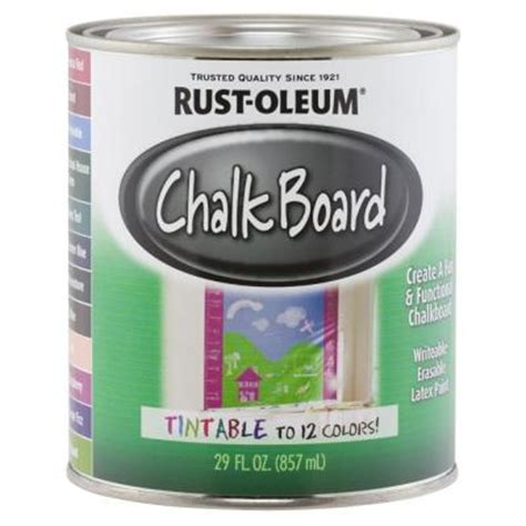 home depot chalk paint rust oleum specialty 29 oz tintable chalkboard paint