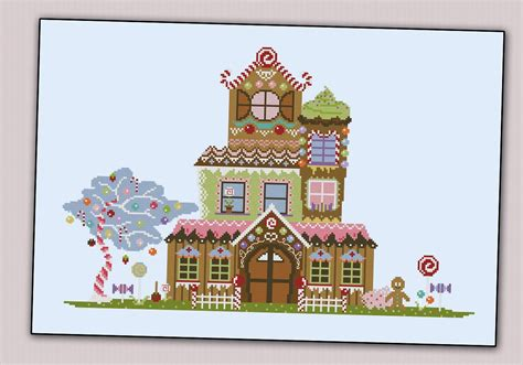 house patterns gingerbread house houses and lanes cross stitch