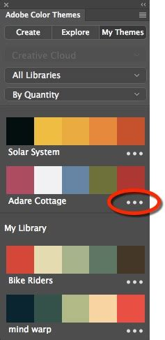 create color themes with adobe color themes panel in illustrator how to create a colour palette from a photo using adobe