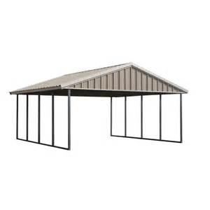 home depot carport pws premium canopy 20 ft x 20 ft ash grey and polar
