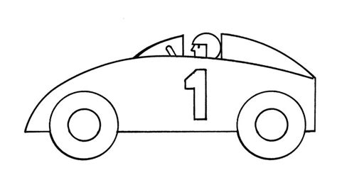 racing car template car clipart black and white clipartion