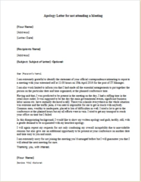 Official Letter Not Attending Meeting Apology Letter For Not Attending A Meeting Writeletter2
