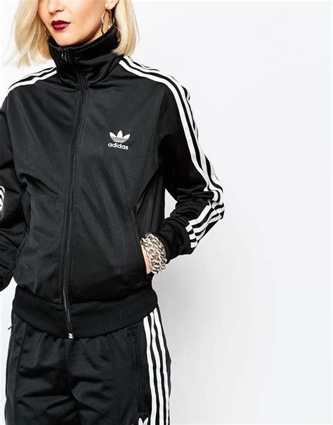 Jaket Adidas 3 Stripe adidas originals 3 stripe zip front track jacket in black