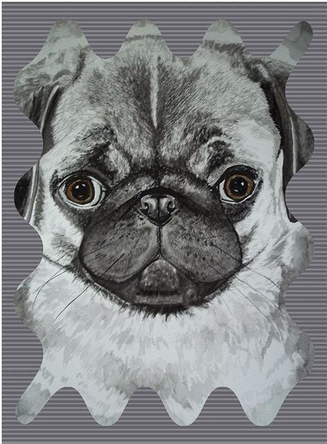 pug shaped pug shape effects painting by teresa peterson