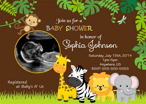 Safari Baby Shower by Themed Invitations Safari