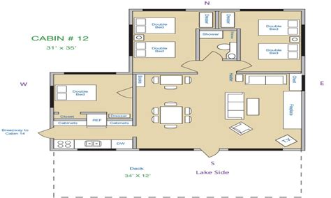 3 bedroom cabin floor plans 1 bedroom log cabins lake