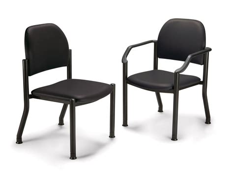 midmark room chairs midmark side chair side w arms black each model 680