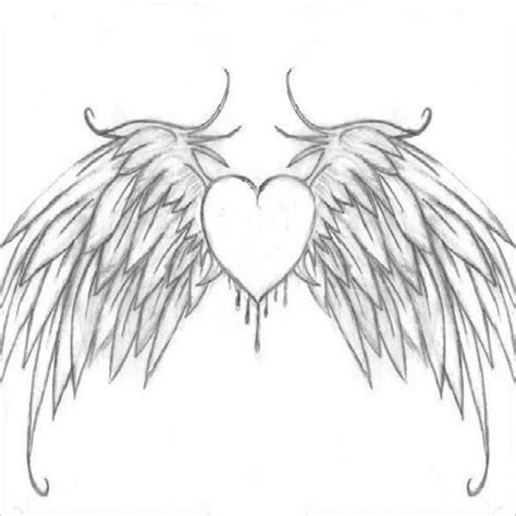 coloring pages heart with wings heart with wings and cross drawings sketch coloring page
