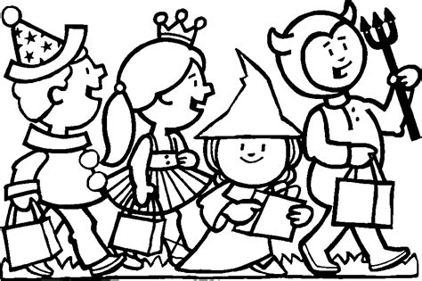 halloween coloring pages trick or treat trick or treat coloring pages coloring home