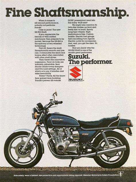 Suzuki Ad Suzuki Gs850g Magazine Ads
