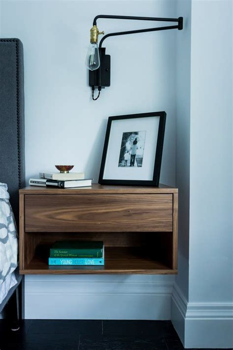 schwebender nachttisch modern nightstands that complete the room with their