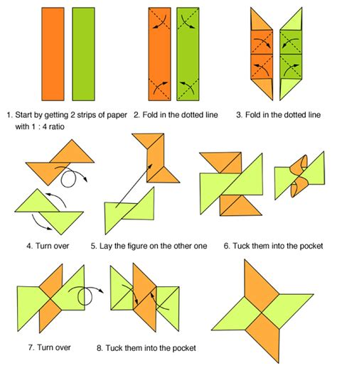 How To Make A Origami Shuriken - origami folding origami