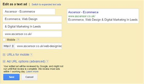 Google Adwords New Expanded Text Ads Expanded Text Ads Template