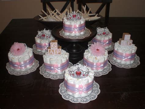 baby shower centerpieces pink and purple bundt baby shower centerpieces diaper cakes