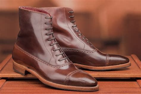 Ii Leather Up Termurah 01 Original Handmade handmade s brown leather boots new lace up cap toe leather boot on luulla