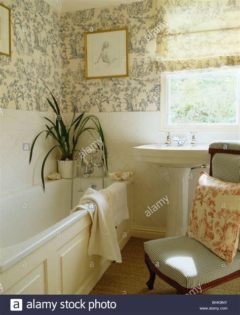 toile bathroom wallpaper a wallpaper
