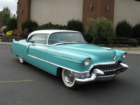 Two Cadillacs 1955 Cadillac Coupe De Ville 2 Door Sedan 70941