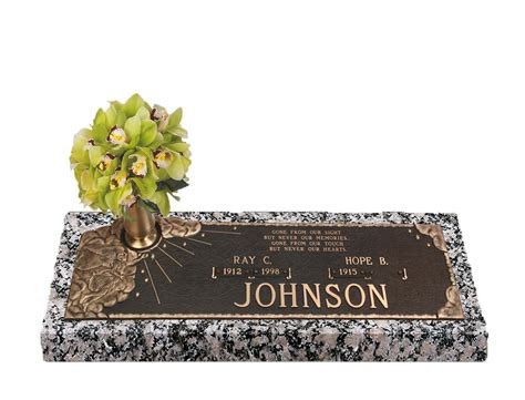 Flat Grave Markers With Vase by Devotions Of Companion Bronze Grave Marker With Vase