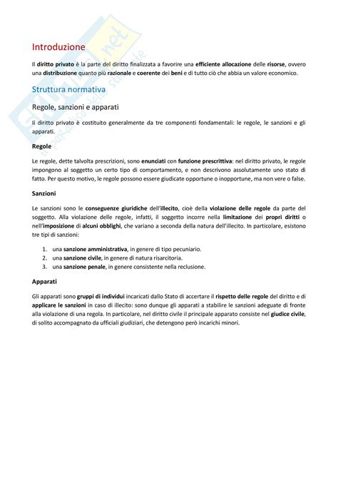 dispensa di diritto privato appunti di diritto privato