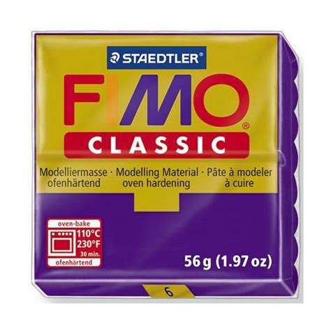dolls house miniature fimo products fimo classic basic colours 56g lilac 06 product code