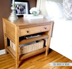 Drawer Nightstand Diy Bedside Table With Drawer And Shelf Free Plans