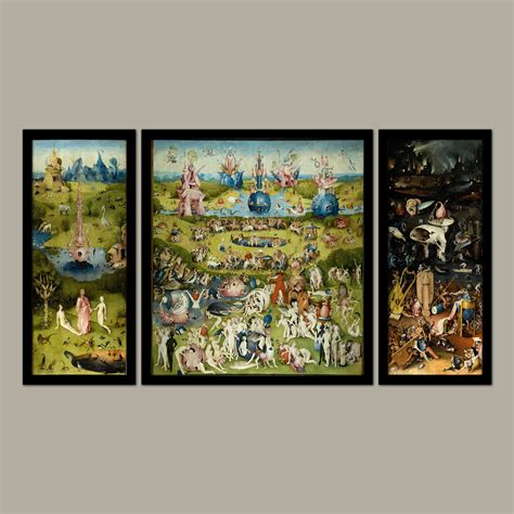 The Garden Of Earthly Delights Print by The Garden Of Earthly Delights Canvas Print Buy The
