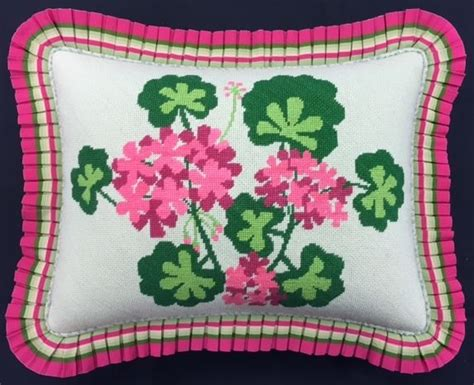a beautiful springtime pillow we finished for a customer
