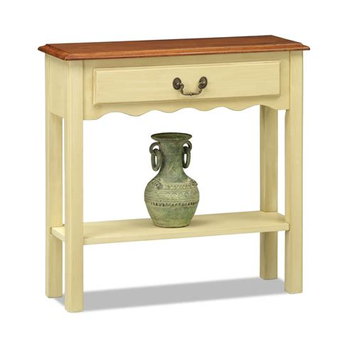 Ivory Console Table Leick Wave Small Console Table Ivory Finish