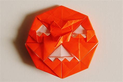 Pumpkin Origami - origami pumpkins food ideas