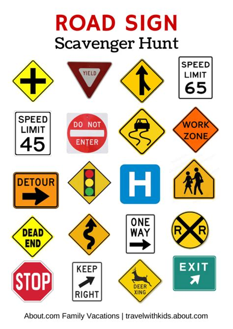 printable road signs and meanings free printable travel games for kids bye bye plays and