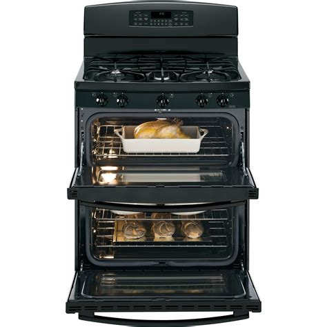 Oven Gas Standing jgb850defbb ge 30 quot free standing gas oven range black