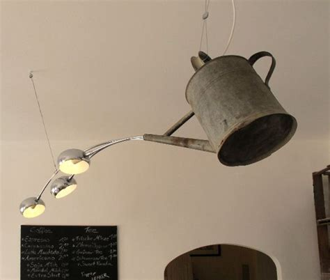 watering can with lights watering can transformed into a chandelier