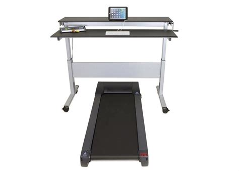 stand up desk with treadmill heavy duty steel framed adjustable height stand up