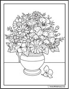 coloring pages of flowers in vases search