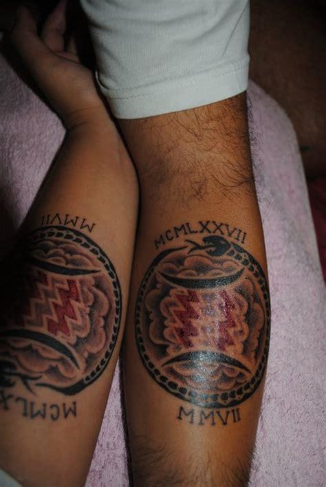 matching aquarius tattoos for couple tattooshunt com