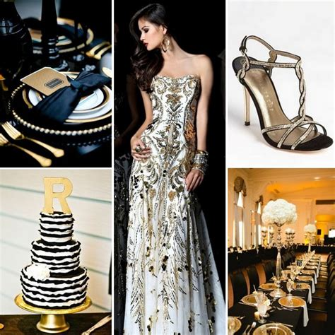 Black white and gold wedding inspiration by linentablecloth