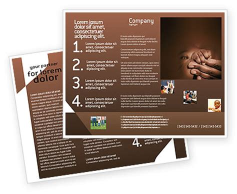 breast feeding brochure template design and layout
