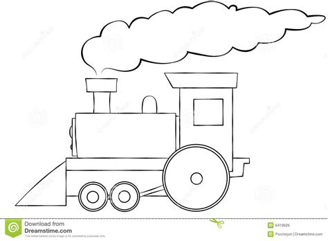 cartoon train line art royalty free stock image image