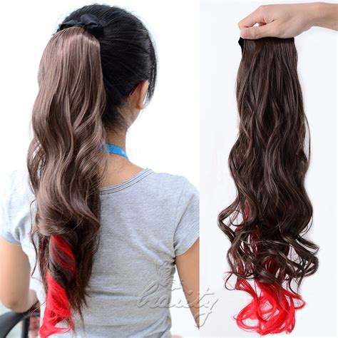 Hairclip Ombre Curlyponytailwig ombre clip in ponytail pony hair extension wrap on hair curly style ebay