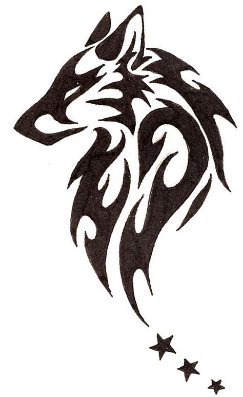 tribal wolf tattoo designs beautiful tribal wolf with design t