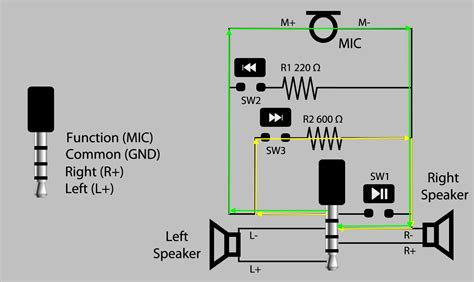 headphone with mic and volume wiring diagram free
